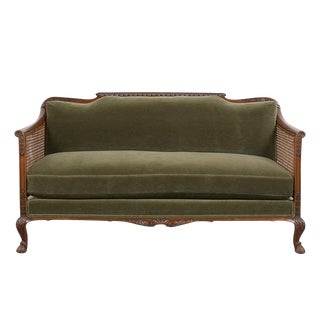 Traditional French Mahogany Louis XIV Style Sofa For Sale