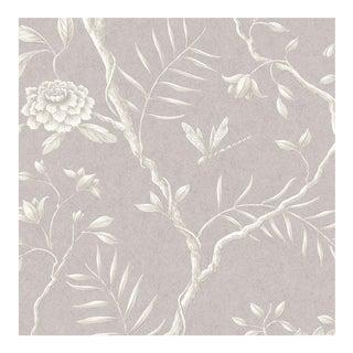 "Lewis & Wood Jasper Peony Lilac Bespoke Extra Wide 52"" Botanic Style Wallpaper For Sale"