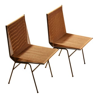 Allan Gould String Side Chairs - A Pair