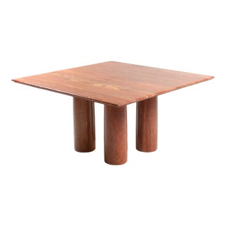 Mario Bellini's Red Travertine 'Il Collonato' Dining Table For Sale
