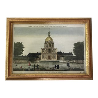 19th Century Paris Invalides Chromolithograph Print For Sale