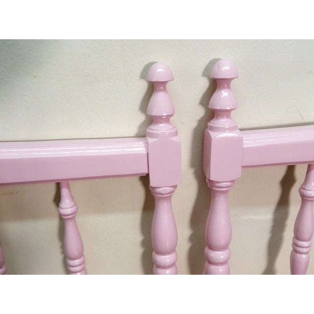 French Country 20th Century Colonial Turned Wood Twin Headboards - a Pair For Sale - Image 3 of 7