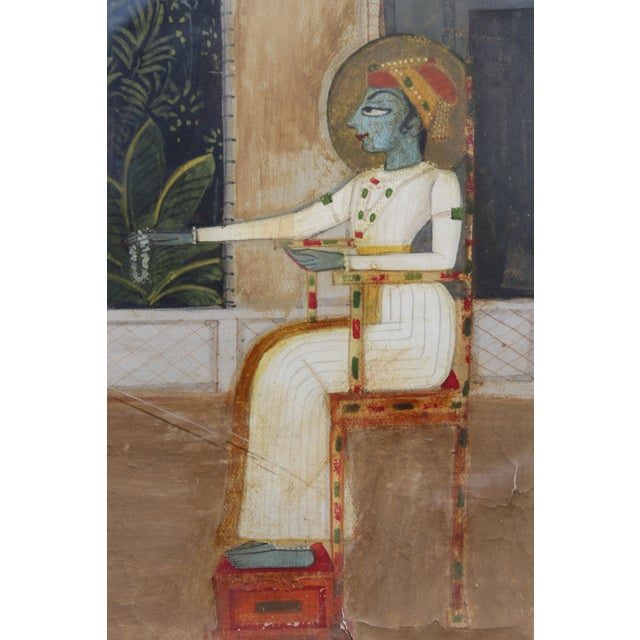 Nice 19/18 C. Indian Gouache Painting For Sale In San Diego - Image 6 of 7