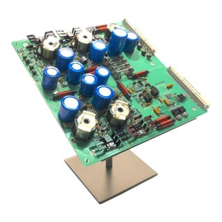 Component Art Desk Sculpture Mid 20th Century Television Production Equipment Circuitry For Sale