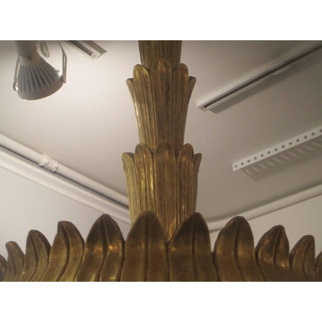 Unusual Giltwood Hand-Carved Fixture For Sale In New York - Image 6 of 8