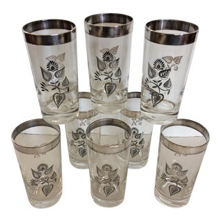 Mid-Century Modern Georges Briard Silver Hi-Ball Glasses - Set of 8 For Sale