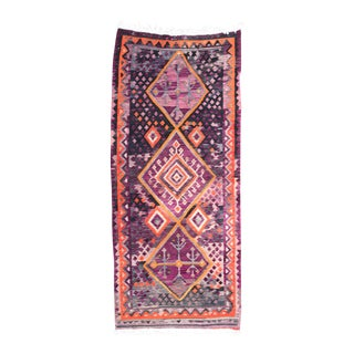 "Handwoven Kilim Rug, 4'1""x9'5"" For Sale"