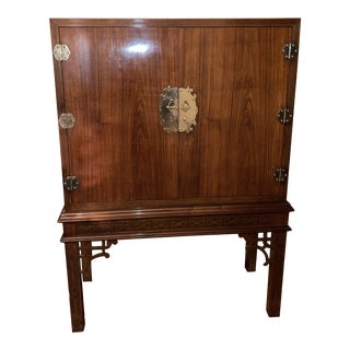 Hollywood Regency Chinoiserie Style Mini Dry Bar For Sale