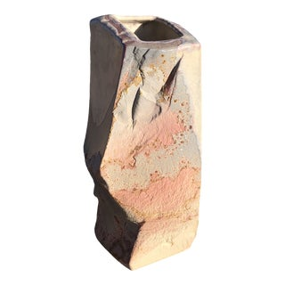 Tony Evans Abstract Raku Postmodern Vase For Sale