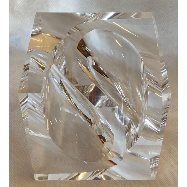 Acrylic 1970s Italian Alessio Tasca Lucite Sculpture For Sale - Image 7 of 11