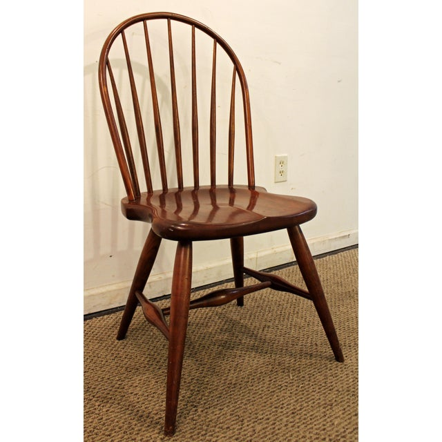 What a find. Offered is a Contemporary Duckloe Bros Cherry Hoop-Back Windsor Side Dining Chair. The chair is in great...