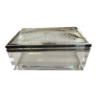 Lalique Crystal Desk Box For Sale