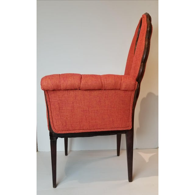 Aesthetic Movement Mid-Century Orange Upholstered Butterfly Chairs - a Pair For Sale - Image 3 of 5