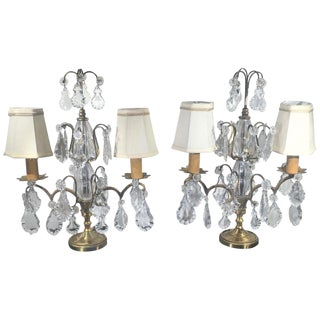 1920s French Girondole Candelabra Lamps - a Pair For Sale