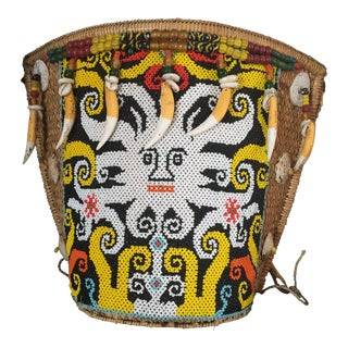 Borneo Woven & Beaded Child Splint Carrier