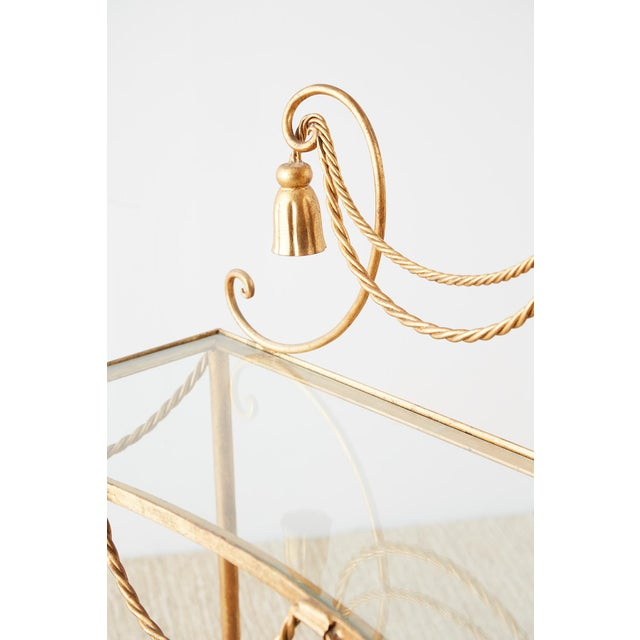 Mid 20th Century Hollywood Regency Gilt Iron and Faux Rope Vanity For Sale - Image 5 of 13