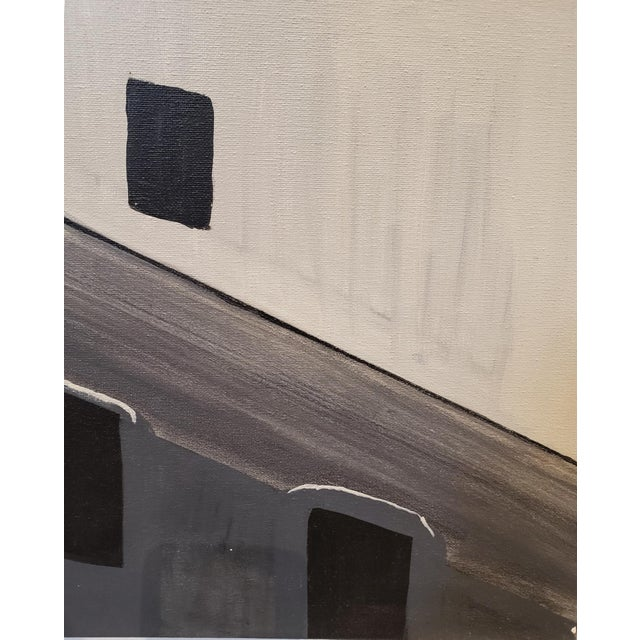 Lionel Lamy Contemporary Painting of Old Silo Building at Night Downtown Dallas For Sale - Image 4 of 6