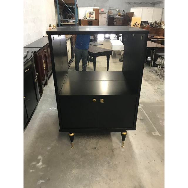 1940's French Art Deco Ebonized Dry Bar Cabinet For Sale In Miami - Image 6 of 13