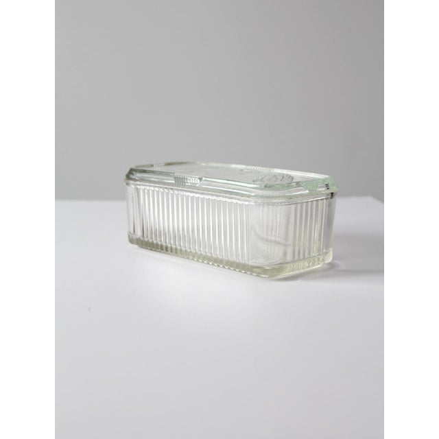 Cottage Depression Glass Refrigerator Dish For Sale - Image 3 of 9
