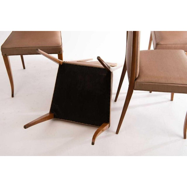 Mid-Century Modern 1950s Vintage Gio Ponti Style Dining Chairs- Set of 4 For Sale - Image 3 of 8