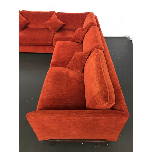 Burnt Orange Sectional Sofa by Adrian Pearsall for Craft Associates For Sale - Image 8 of 12