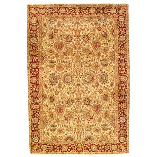 Pasargad Indo Agra New Zealand Wool Rug - 6′ × 9′ For Sale