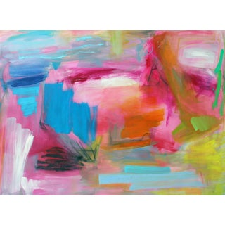 """""""South Beach"""" by Trixie Pitts Original Abstract Print on Heavy Paper For Sale"""