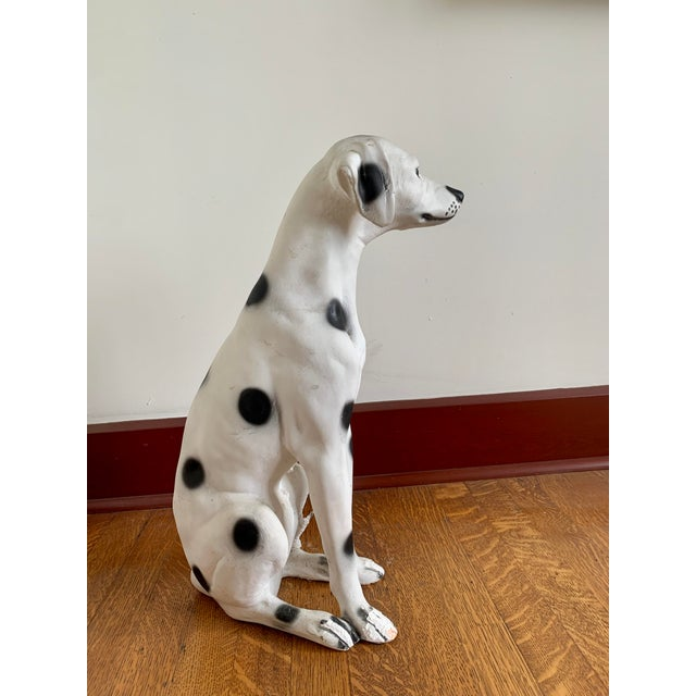 Mid 20th Century Vintage Chalkware Life Size Dalmatian Statue For Sale - Image 5 of 13