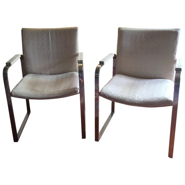 Milo Baughman Vintage Accent Chairs - Pair - Image 1 of 11
