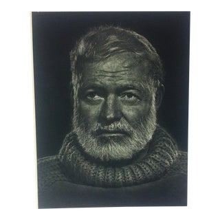 "Black & White Print on Paper, ""Ernest Hemingway"" by Yousuf Karsh, 1967 For Sale"