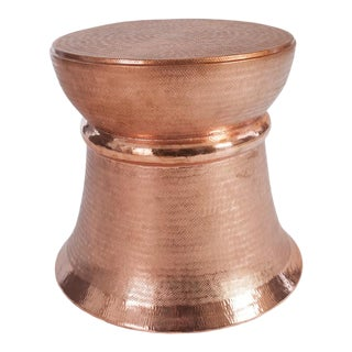 Phillips Collection Textured Copper Stool For Sale
