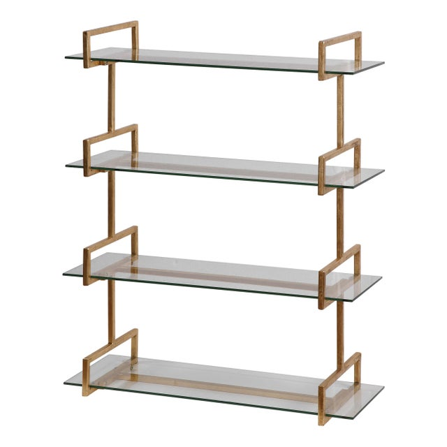 Contemporary Gold Iron Wall Shelf For Sale - Image 3 of 3
