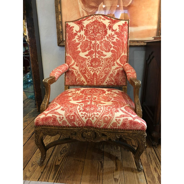 1950s Vintage Carved Giltwood Fauteuil Arm Chair For Sale - Image 13 of 13
