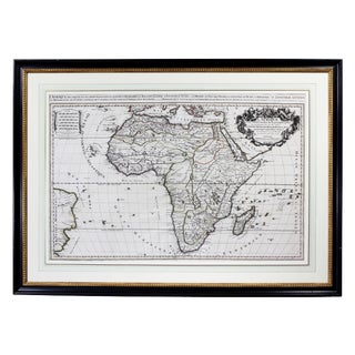 Framed Map of Africa by Hubert Jaillot For Sale