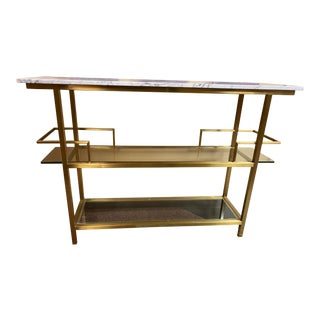 Mitchell Gold + Bob Williams Marquis Bar Cart For Sale