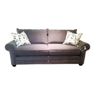 Modern Bassett Furniture Gray Sofa For Sale