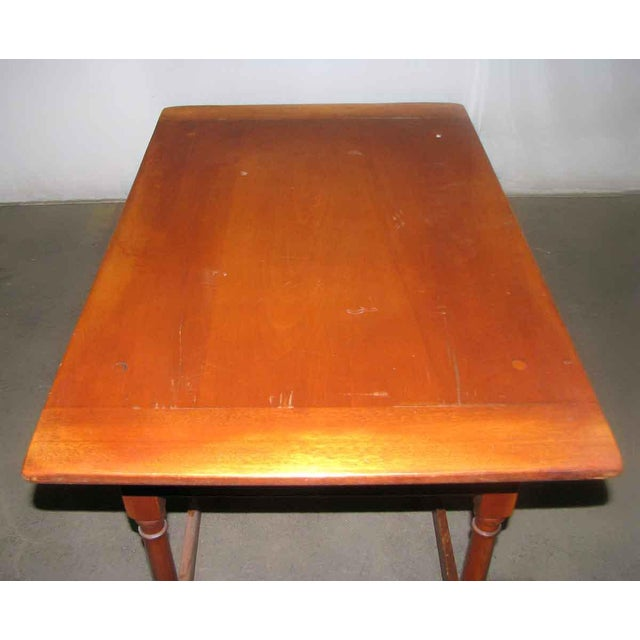 Maple Vintage Maple Desk Table For Sale - Image 7 of 7