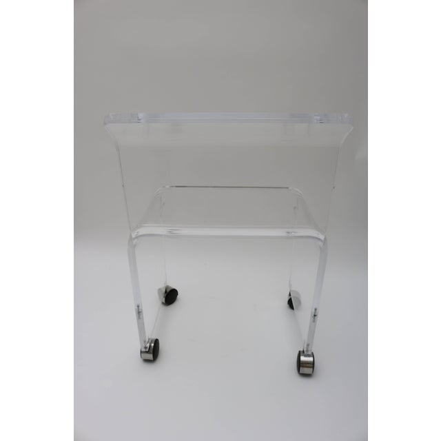 Mid-Century Modern Mid-Century Modern Lucite Vanity Chair For Sale - Image 3 of 11