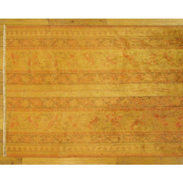 Early 20th Century Antique Indian Agra Rug - 5′ × 2′1″ For Sale - Image 4 of 5