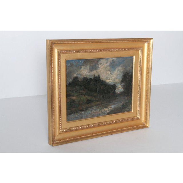 Realism 19th Century English Oil Canvas Atmospheric Landscape For Sale - Image 3 of 13