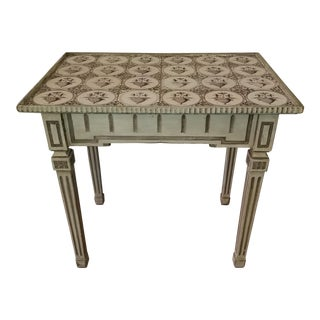 19th Century Delft Tile Top Tea Table