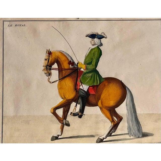 Four Engravings of Horse Riders Le Sensible, Le Royal, Le Conquerant, Le Ballon For Sale - Image 4 of 11