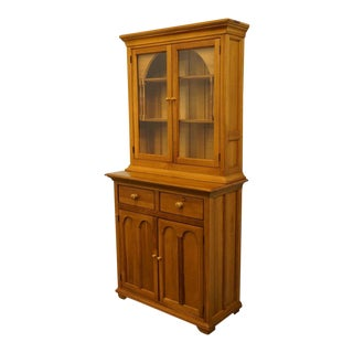 20th Century French Country Lexington Furniture Palmer Home Collection Breakfast Hutch/China Cabinet For Sale