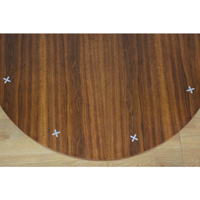 American Of Martinsville Walnut Round Coffee Table For Image 4
