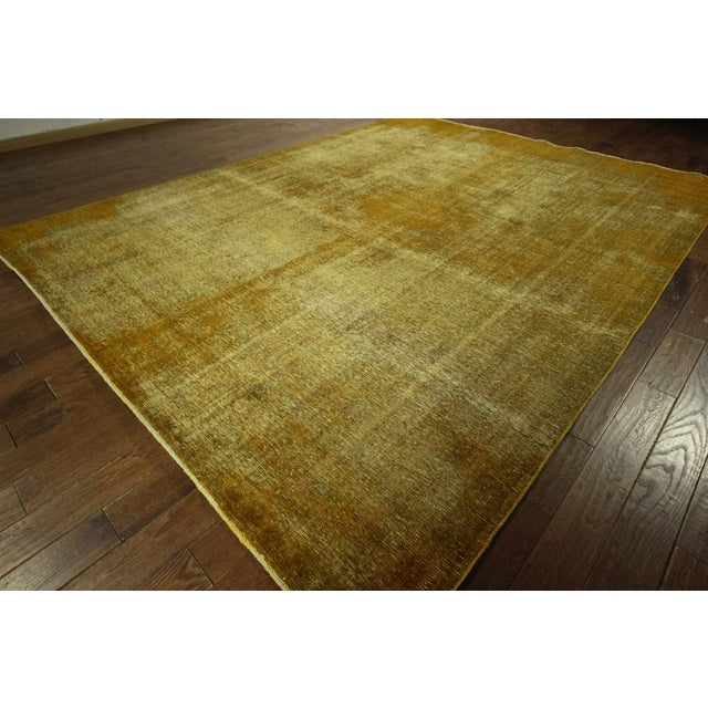 "Gold Wash Overdyed Tabriz Rug - 9' 6"" x 12' 5"" - Image 2 of 9"