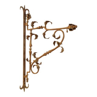 Beautiful 18th Century Iron Sign or Lantern Holder from France