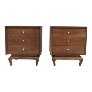 Three Drawer American of Martinsville Mid-Century Nightstands/Side Tables For Sale