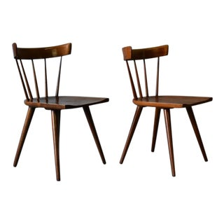 Paul McCobb Mid Century Modern Spindle Side Chair Planner Group, a Pair For Sale