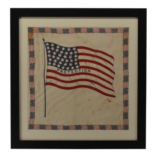 Antique 38 Star American Flag Bunting For Sale
