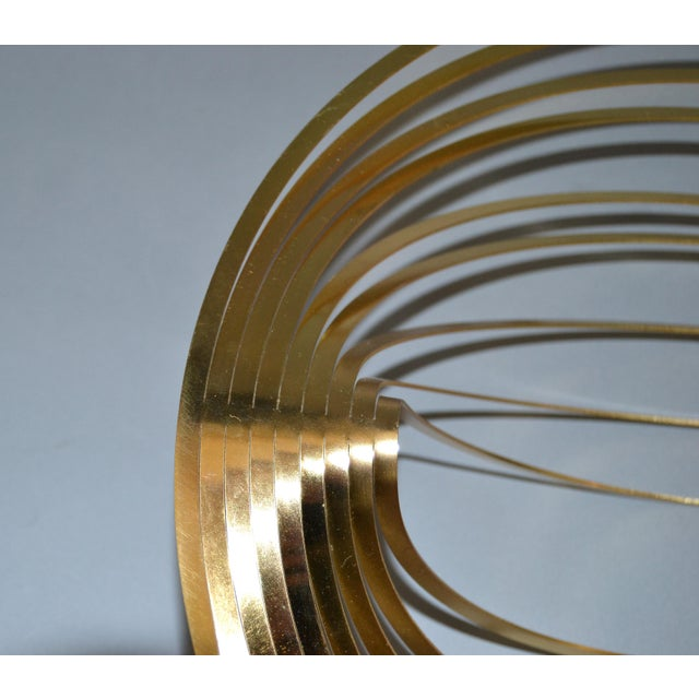 Modern Sculptural Golden Brass Rocking Bowl, Eight Mood, Sweden For Sale In Miami - Image 6 of 11